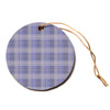 "afe images ""Purple Plaid Pattern"" Purple Blue Pattern Stripes Illustration Digital Circle Holiday Ornament"
