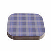 "afe images ""Purple Plaid Pattern"" Purple Blue Illustration Coasters (Set of 4)"