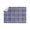 "afe images ""Purple Plaid Pattern"" Purple Blue Illustration Sherpa Blanket - KESS InHouse"
