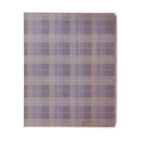 "afe images ""Purple Plaid Pattern"" Purple Blue Illustration Birchwood Wall Art - KESS InHouse  - 1"