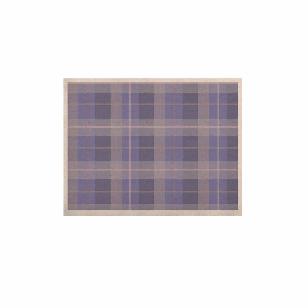 "afe images ""Purple Plaid Pattern"" Purple Blue Illustration KESS Naturals Canvas (Frame not Included) - KESS InHouse  - 1"