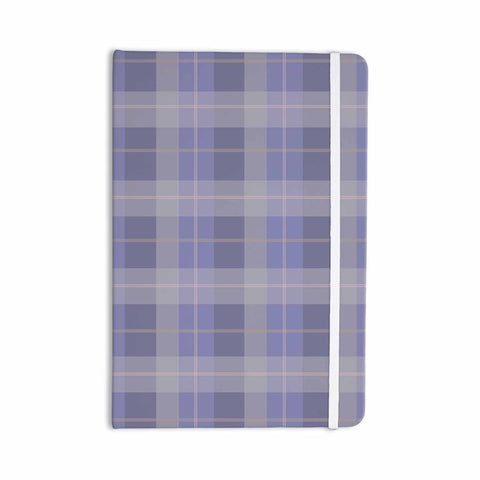 "afe images ""Purple Plaid Pattern"" Purple Blue Illustration Everything Notebook - KESS InHouse  - 1"