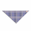 "afe images ""Purple Plaid Pattern"" Purple Blue Illustration Pet Bandana - KESS InHouse  - 1"