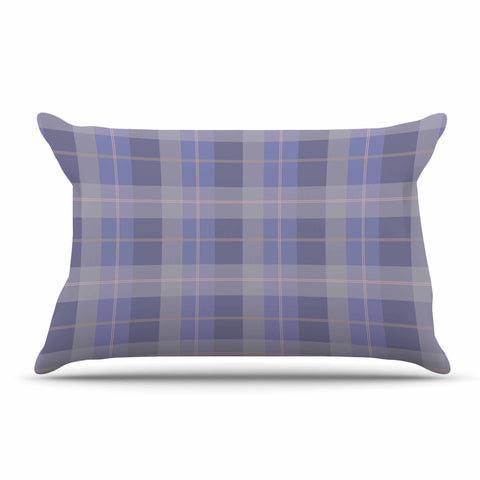 "afe images ""Purple Plaid Pattern"" Purple Blue Illustration Pillow Sham - KESS InHouse  - 1"