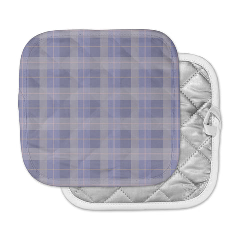 "afe images ""Purple Plaid Pattern"" Purple Blue Illustration Pot Holder"
