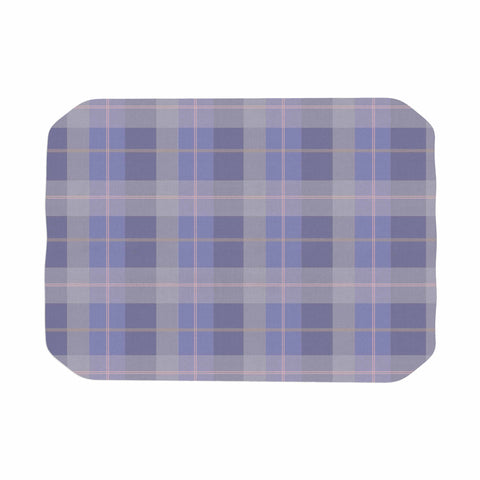 "afe images ""Purple Plaid Pattern"" Purple Blue Illustration Place Mat - KESS InHouse"