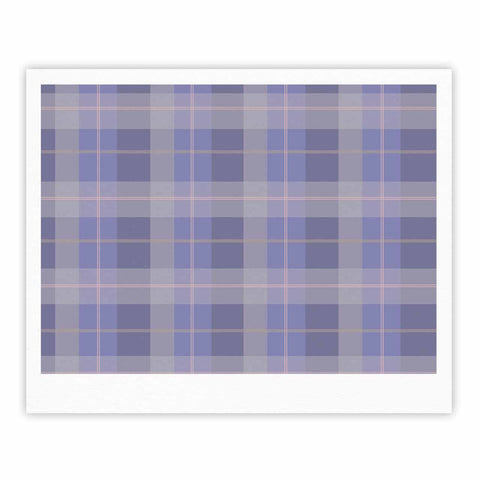 "afe images ""Purple Plaid Pattern"" Purple Blue Illustration Fine Art Gallery Print - KESS InHouse"