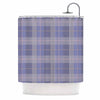 "afe images ""Purple Plaid Pattern"" Purple Blue Illustration Shower Curtain - KESS InHouse"
