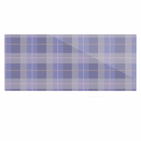 "afe images ""Purple Plaid Pattern"" Purple Blue Illustration Luxe Rectangle Panel - KESS InHouse  - 1"