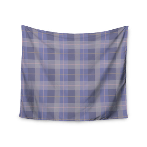 "afe images ""Purple Plaid Pattern"" Purple Blue Illustration Wall Tapestry - KESS InHouse  - 1"