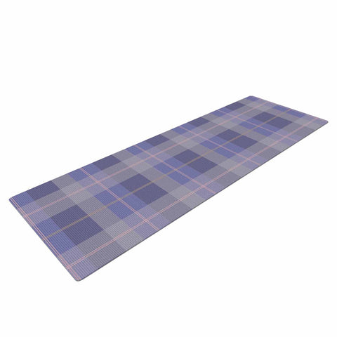 "afe images ""Purple Plaid Pattern"" Purple Blue Illustration Yoga Mat - KESS InHouse  - 1"