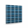 "afe images ""Blue Plaid Pattern"" Blue Multicolor Illustration Canvas Art - KESS InHouse  - 1"