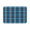 "afe images ""Blue Plaid Pattern"" Blue Multicolor Illustration Memory Foam Bath Mat - KESS InHouse"