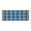 "afe images ""Blue Plaid Pattern"" Blue Multicolor Illustration Bed Runner - KESS InHouse  - 1"