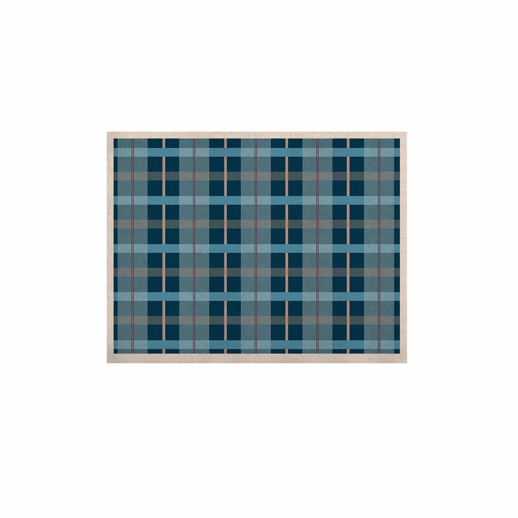 "afe images ""Blue Plaid Pattern"" Blue Multicolor Illustration KESS Naturals Canvas (Frame not Included) - KESS InHouse  - 1"