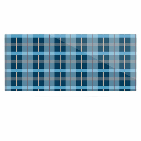 "afe images ""Blue Plaid Pattern"" Blue Multicolor Illustration Luxe Rectangle Panel - KESS InHouse  - 1"