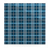 "afe images ""Blue Plaid Pattern"" Blue Multicolor Illustration Luxe Square Panel - KESS InHouse  - 1"