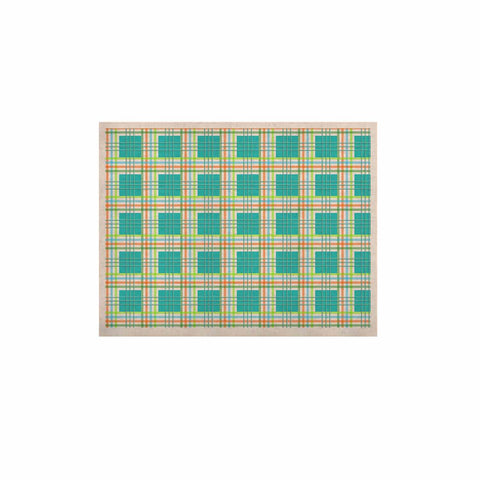 "afe images ""Modern Plaid Pattern"" Teal Green Illustration KESS Naturals Canvas (Frame not Included) - KESS InHouse  - 1"
