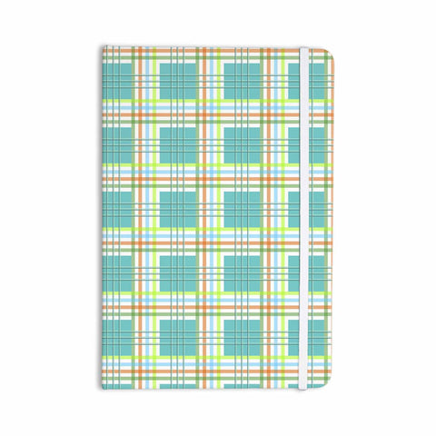 "afe images ""Modern Plaid Pattern"" Teal Green Illustration Everything Notebook - KESS InHouse  - 1"