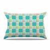 "afe images ""Modern Plaid Pattern"" Teal Green Illustration Pillow Sham - KESS InHouse  - 1"