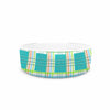 "afe images ""Modern Plaid Pattern"" Teal Green Illustration Pet Bowl - KESS InHouse"