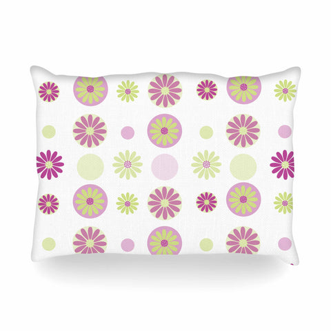 "afe images ""Purple Floral Pattern"" Pink Multicolor Digital Oblong Pillow - KESS InHouse"
