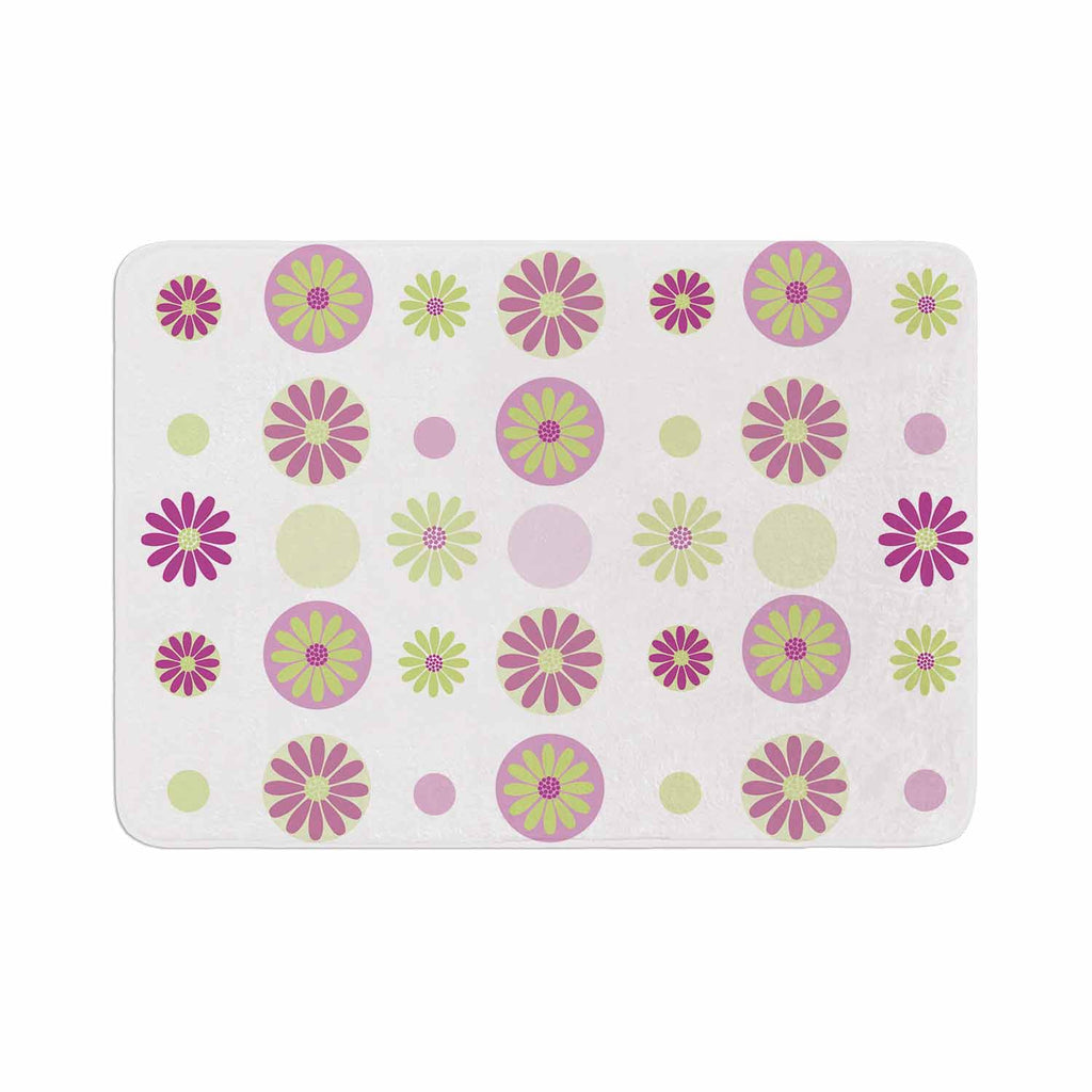 "afe images ""Purple Floral Pattern"" Pink Multicolor Digital Memory Foam Bath Mat - KESS InHouse"