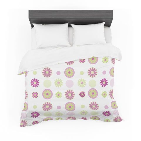 "afe images ""Purple Floral Pattern"" Pink Multicolor Digital Featherweight Duvet Cover"
