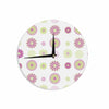 "afe images ""Purple Floral Pattern"" Pink Multicolor Digital Wall Clock - KESS InHouse"