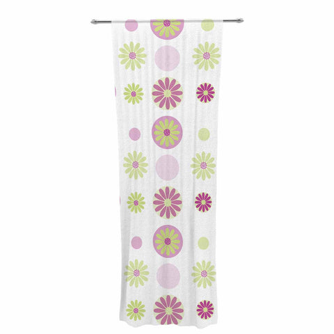 "afe images ""Purple Floral Pattern"" Pink Multicolor Digital Decorative Sheer Curtain - KESS InHouse  - 1"