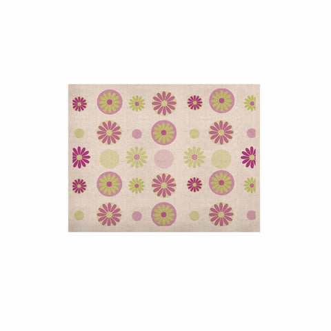 "afe images ""Purple Floral Pattern"" Pink Multicolor Digital KESS Naturals Canvas (Frame not Included) - KESS InHouse  - 1"