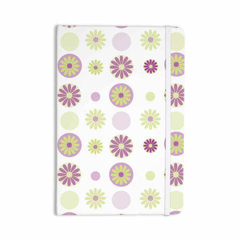 "afe images ""Purple Floral Pattern"" Pink Multicolor Digital Everything Notebook - KESS InHouse  - 1"