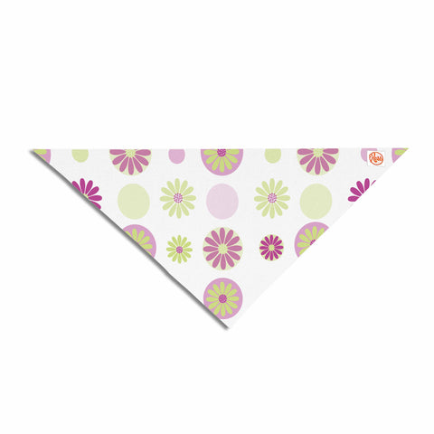 "afe images ""Purple Floral Pattern"" Pink Multicolor Digital Pet Bandana - KESS InHouse  - 1"