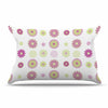 "afe images ""Purple Floral Pattern"" Pink Multicolor Digital Pillow Sham - KESS InHouse  - 1"