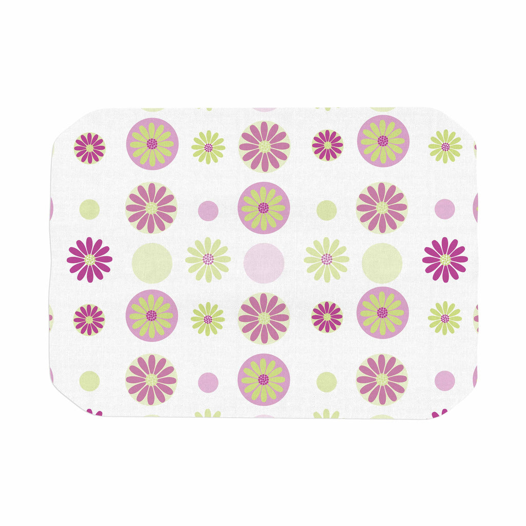 "afe images ""Purple Floral Pattern"" Pink Multicolor Digital Place Mat - KESS InHouse"