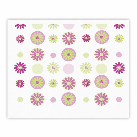 "afe images ""Purple Floral Pattern"" Pink Multicolor Digital Fine Art Gallery Print - KESS InHouse"