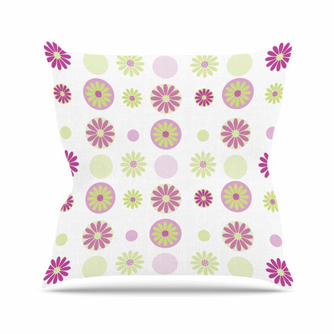 "afe images ""Purple Floral Pattern"" Pink Multicolor Digital Throw Pillow - KESS InHouse  - 1"