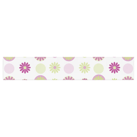 "afe images ""Purple Floral Pattern"" Pink Multicolor Digital Table Runner - KESS InHouse  - 1"
