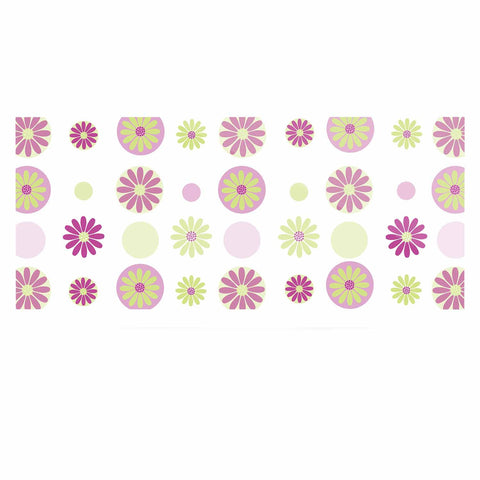 "afe images ""Purple Floral Pattern"" Pink Multicolor Digital Luxe Rectangle Panel - KESS InHouse  - 1"