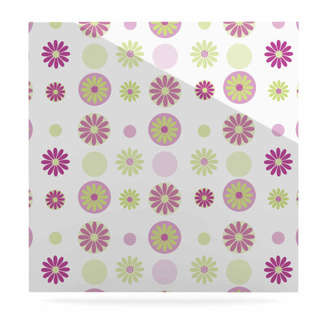 "afe images ""Purple Floral Pattern"" Pink Multicolor Digital Luxe Square Panel - KESS InHouse  - 1"