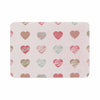 "afe images ""Pastel Hearts Pattern"" Pink Red Illustration Memory Foam Bath Mat - KESS InHouse"