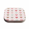 "afe images ""Pastel Hearts Pattern"" Pink Red Illustration Coasters (Set of 4)"