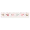 "afe images ""Pastel Hearts Pattern"" Pink Red Illustration Table Runner - KESS InHouse  - 1"