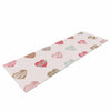 "afe images ""Pastel Hearts Pattern"" Pink Red Illustration Yoga Mat - KESS InHouse  - 1"