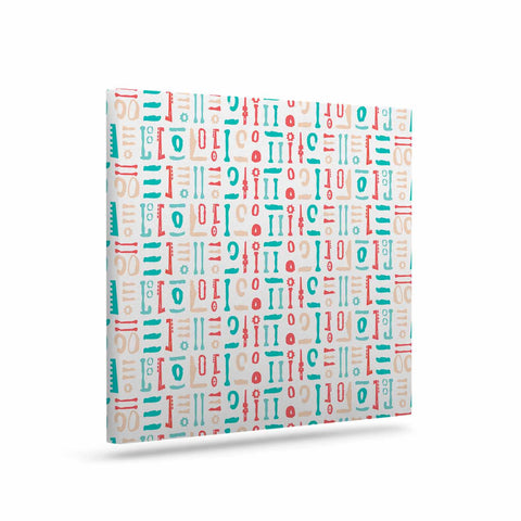 "afe images ""Abstract Pattern"" Coral Blue Illustration Canvas Art"