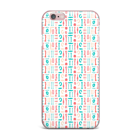 "afe images ""Abstract Pattern"" Coral Blue Illustration iPhone Case"