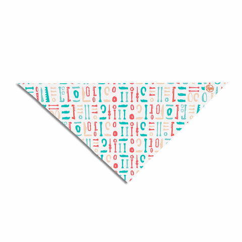 "afe images ""Abstract Pattern"" Coral Blue Illustration Pet Bandana"