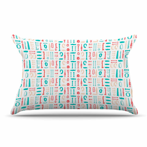 "afe images ""Abstract Pattern"" Coral Blue Illustration Pillow Sham"