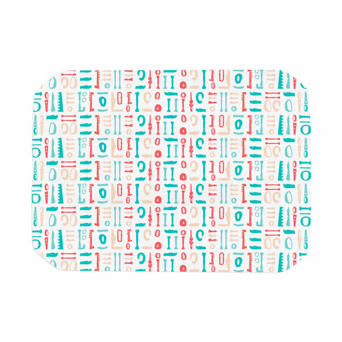 "afe images ""Abstract Pattern"" Coral Blue Illustration Place Mat"