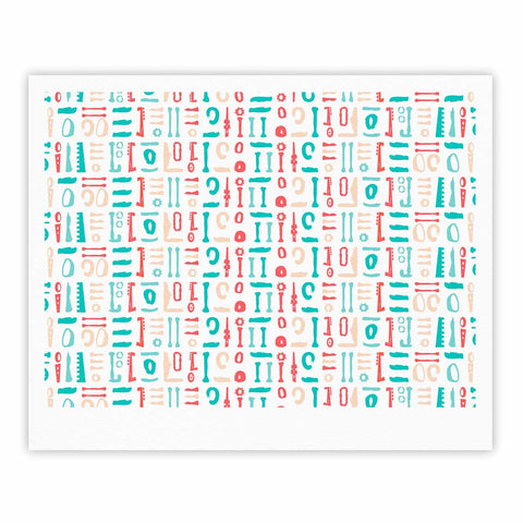 "afe images ""Abstract Pattern"" Coral Blue Illustration Fine Art Gallery Print"